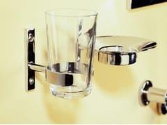 Portaspazzolino a muro in acciaio e vetroMORGANS | Portaspazzolino - RAPSEL INTERNATIONAL