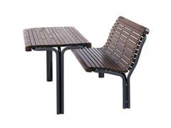 Tavolo per spazi pubblici rettangolare in legnoCONTOUR - EUROFORM K. WINKLER