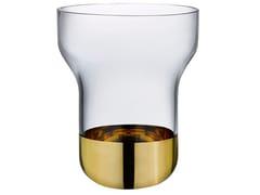 Vaso in cristallo con base dorata CONTOUR WIDE | Vaso - Contour