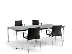 Tavolo da riunione rettangolare in vetroCOOL E100 | Tavolo da riunione rettangolare - ACTIU