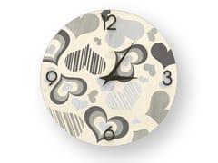 Orologio da parete in legno intarsiato CORAZÒN COLD | Orologio - DOLCEVITA LOVE