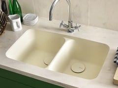 Lavello a 2 vasche sottotop in Corian® CORIAN® KITCHEN SINK SMOOTH -
