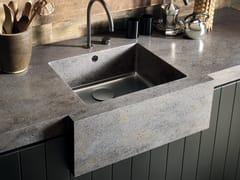 Lavello a una vasca filo top in Corian® Corian® SPARKLING -