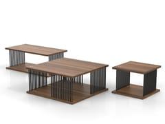 Tavolino in legno impiallacciato CORINTH | Tavolino rettangolare - Corinth