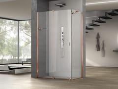 Box doccia angolare in vetro con porta scorrevoleILLUSION   Box doccia angolare - MEGIUS