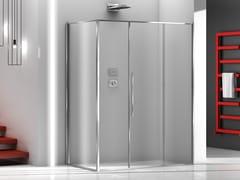 Box doccia angolare in vetro con porta scorrevoleZEN XL | Box doccia angolare - MEGIUS