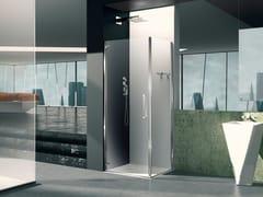 Box doccia angolare in vetro con porta a battentePRISMA 1.0 | Box doccia angolare - MEGIUS