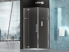 Box doccia angolare in vetro con porta a battentePRISMA 2.0 | Box doccia angolare - MEGIUS