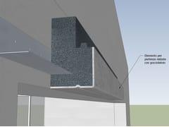 Elemento per sistema a cappotto termicoCornice rompigoccia gocciolatoio - WALL SYSTEM