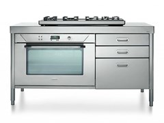 Cucina a libera installazione professionale in acciaio inoxCOTTURA 160   Cucina a libera installazione - ALPES-INOX