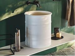 Lavabo da appoggio rotondo in acciaio inox VIEQUES | Lavabo da appoggio - Vieques