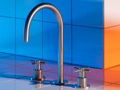 Miscelatore per lavabo da piano in acciaio inox con rosette separateHELM ZHM516 - ZUCCHETTI RUBINETTERIA
