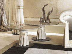 Tavolino rotondo in marmo per contract COUTURE | Tavolino rotondo - Couture