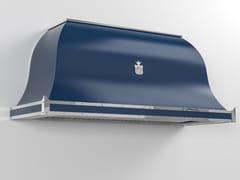 Cappa professionale in metallo verniciato a parete con illuminazione integrataCPP025 | Cappa professionale - OFFICINE GULLO