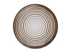 Vassoio rotondo in legno e vetroCREAM CIRCLES - ROUND L - ETHNICRAFT