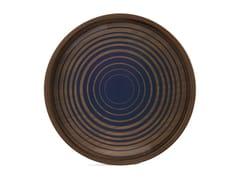 Vassoio rotondo in legno e vetroCREAM CIRCLES - ROUND M - ETHNICRAFT