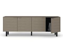 Mobile ufficio basso in legno con serraturaCREDENZE | Mobile ufficio - BRALCO