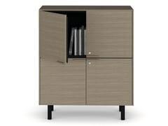 Mobile ufficio alto in legno con serraturaCREDENZE | Mobile ufficio alto - BRALCO