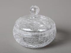 Porta cotone cristallo craquelèCRIS203 | Porta cotone - BLEU PROVENCE