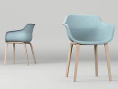 Sedia in feltro con braccioliCRONA FELT | Sedia con braccioli - BRUNNER