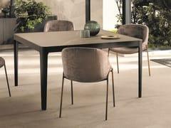 Tavolo quadrato in ceramicaCROSS | Tavolo quadrato - RIFLESSI