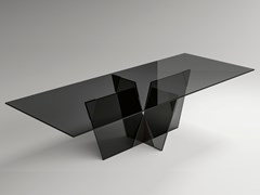 Tavolo rettangolare in vetroCROSSOVER | Tavolo rettangolare - T.D. TONELLI DESIGN