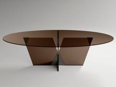 Tavolo ovale in vetroCROSSOVER | Tavolo ovale - T.D. TONELLI DESIGN