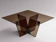 Tavolo quadrato in vetroCROSSOVER | Tavolo quadrato - T.D. TONELLI DESIGN