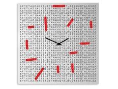 Orologio in lamiera da pareteCROSSWORD - DESIGNOBJECT.IT