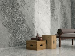 ARIOSTEA, CRYSTAL DARK Pavimento/rivestimento in gres porcellanato effetto marmo