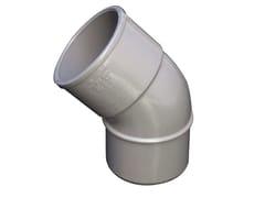 Curva in PVC per tubo pluviale grigioCS45050N - FIRST CORPORATION