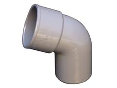 Curva in PVC per tubo pluviale grigioCS67050N - FIRST CORPORATION