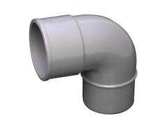 Curva in PVC per tubo pluviale grigioCS87050N - FIRST CORPORATION