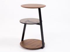 Tavolino da caffè rotondo in legno e vetroCT-232B | Tavolino - ADWIN FURNITURE