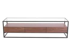 Tavolino rettangolare in legno e vetro con vano contenitoreCB-093 | Tavolino - ADWIN FURNITURE