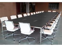 Tavolo da riunione in legno impiallacciato con sistema passacaviCUBE | Tavolo da riunione - ELITABLE