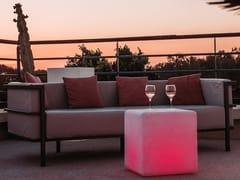 Lampada da terra per esterno a LED in plastica senza filiCUBE - SMART AND GREEN