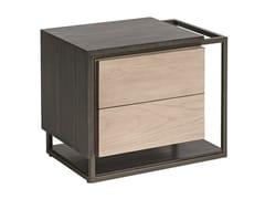 Comodino rettangolare in legno con cassettiCUBIC | Comodino - SHAKE