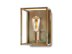 Lampada a parete Industrial con lastra di coperturaCUBIC   Lampada da parete in ottone - MORETTI LUCE