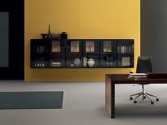 Libreria ufficio modulare in legno e vetro CUBIK | Libreria ufficio -