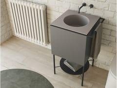 Mobile lavabo da terra in legno massello con lavabo integratoCUBO   Mobile lavabo da terra - COLAVENE