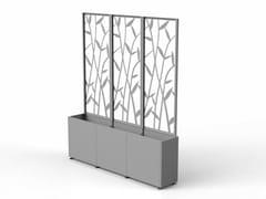 Fioriera modulare in acciaio con grigliatoCUBO | Fioriera con grigliato - MODULARTE