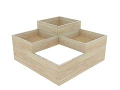 Zuri Design, CUBO Fioriera bassa quadrata in abete