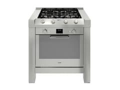 Modulo cucina freestanding in acciaio inox per piano cotturaMILANO 4F 90 cm INOX - FOSTER