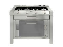 Modulo cucina freestanding in acciaio inoxMILANO 4F LINEA 2V+2T - FOSTER