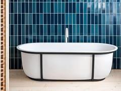 Agape, CUNA Vasca da bagno centro stanza ovale in Solid Surface