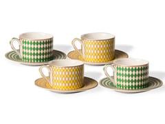 Set di tazze da tè in porcellanaCHESS | Set di tazze da tè - POLS POTTEN