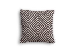 Cuscino quadrato in tessuto a motivi geometriciCUSCINETTO A SAPONETTA | Cuscino a motivi geometrici - BODEMA