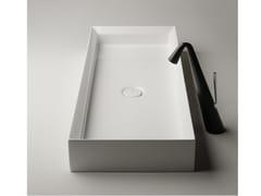 Lavabo da appoggio rettangolare singolo in ceramicaCUT | Lavabo da appoggio - VALDAMA