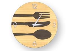Orologio da parete in legno intarsiatoCUTLERY WARM | Orologio - LEONARDO TRADE